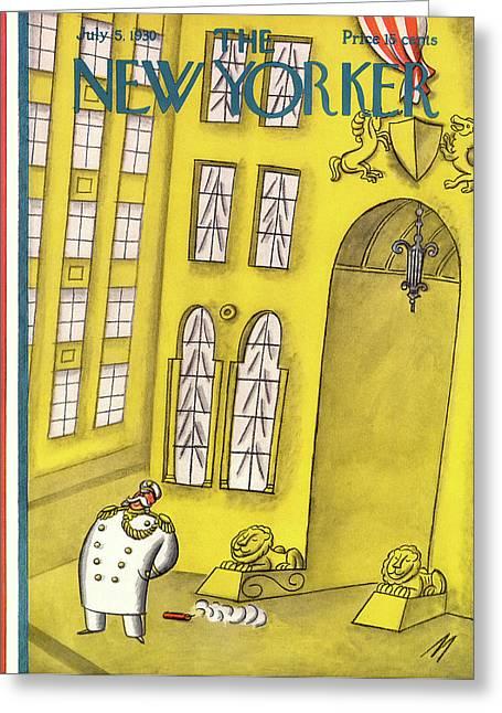New Yorker July 5th, 1930 Greeting Card by Julian de Miskey