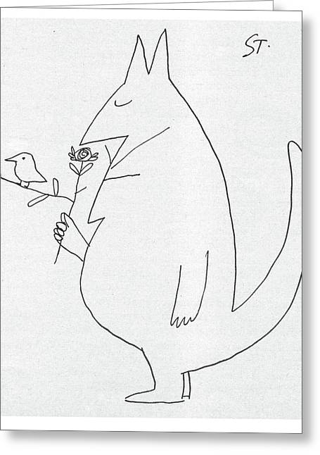 New Yorker July 5th, 1958 Greeting Card by Saul Steinberg