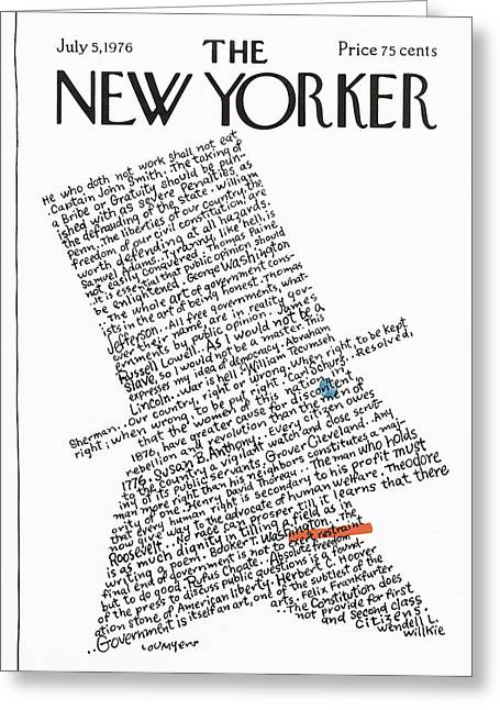 New Yorker July 5th, 1976 Greeting Card