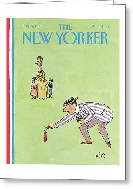 New Yorker July 5th, 1982 Greeting Card