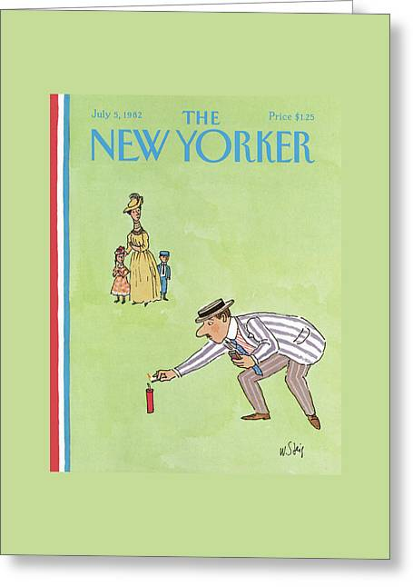 New Yorker July 5th, 1982 Greeting Card by William Steig