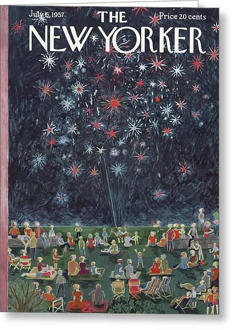 New Yorker July 6th, 1957 Greeting Card by Ilonka Karasz