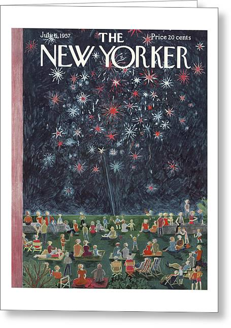 New Yorker July 6th, 1957 Greeting Card