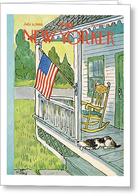 New Yorker July 6th, 1968 Greeting Card