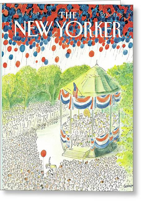 New Yorker July 6th, 1987 Greeting Card by Jean-Jacques Sempe