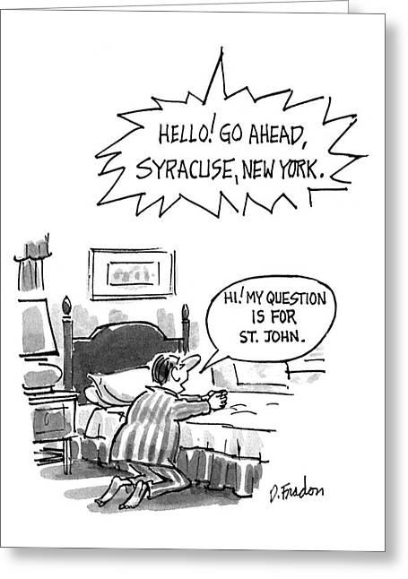New Yorker July 6th, 1992 Greeting Card by Dana Fradon