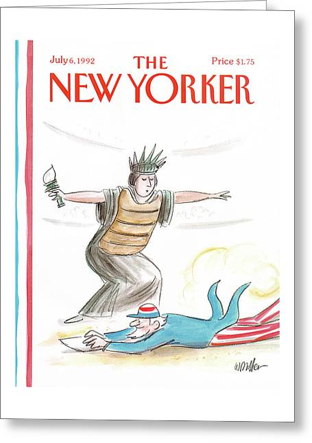 New Yorker July 6th, 1992 Greeting Card