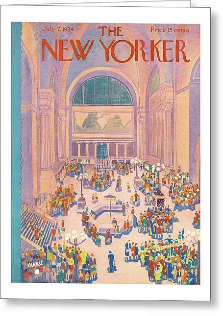 New Yorker July 7th, 1934 Greeting Card