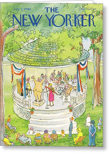 New Yorker July 7th, 1980 Greeting Card