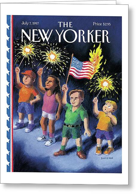 New Yorker July 7th, 1997 Greeting Card