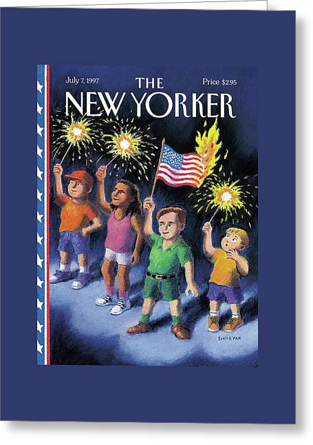 New Yorker July 7th, 1997 Greeting Card by R. Sikoryak