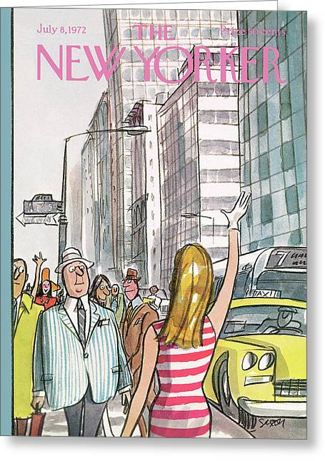 New Yorker July 8th, 1972 Greeting Card