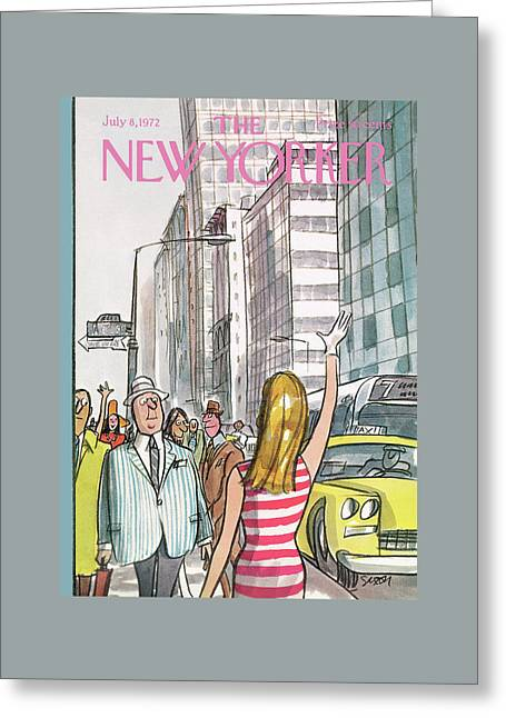 New Yorker July 8th, 1972 Greeting Card by Charles Saxon