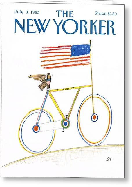 New Yorker July 8th, 1985 Greeting Card by Saul Steinberg