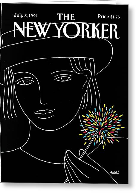 New Yorker July 8th, 1991 Greeting Card by Heidi Goennel