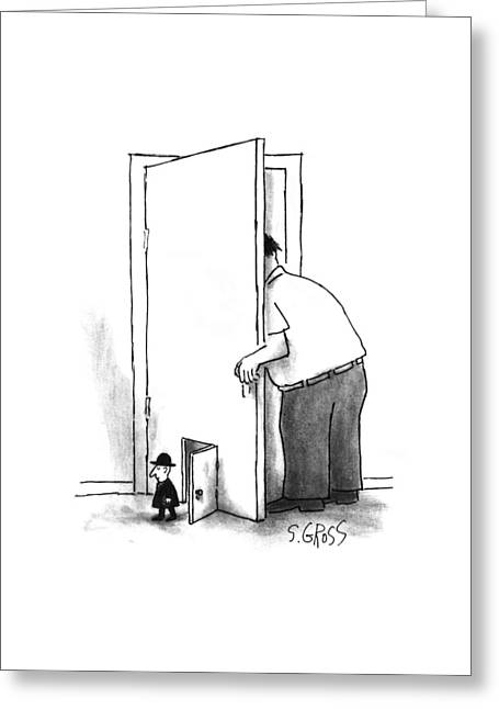 New Yorker July 8th, 1996 Greeting Card by Sam Gross