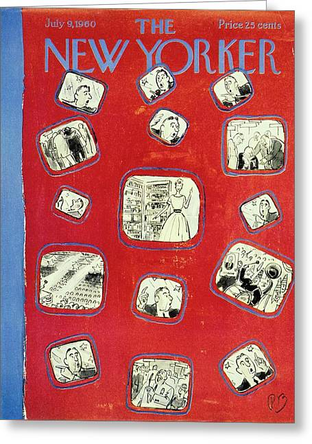 New Yorker July 9th 1960 Greeting Card