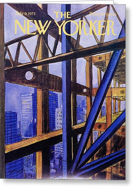 New Yorker July 9th 1973 Greeting Card