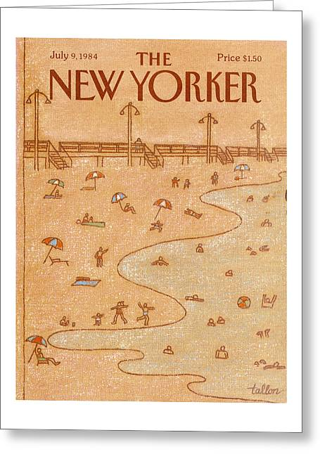 New Yorker July 9th, 1984 Greeting Card