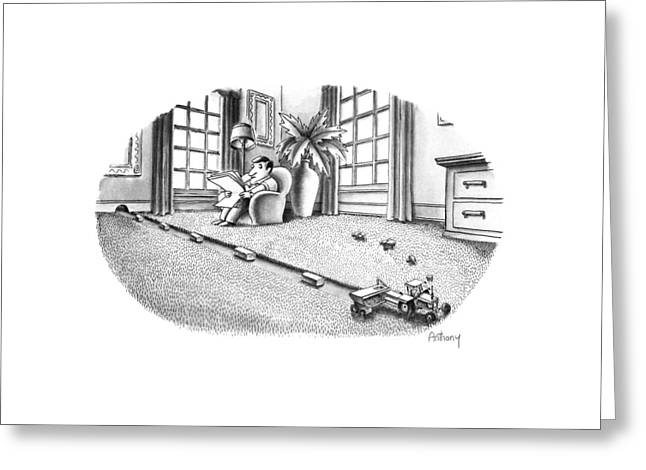 New Yorker July 9th, 1990 Greeting Card by Anthony Taber