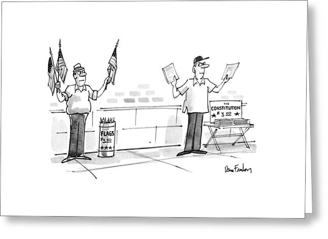 New Yorker July 9th, 1990 Greeting Card by Dana Fradon