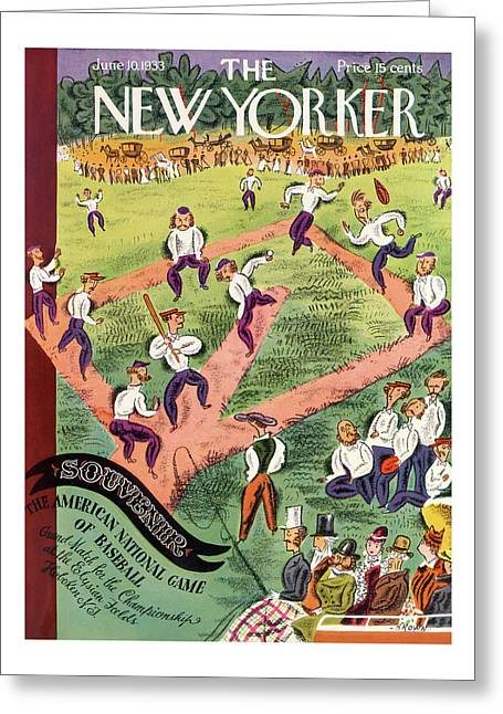 New Yorker June 10th, 1933 Greeting Card
