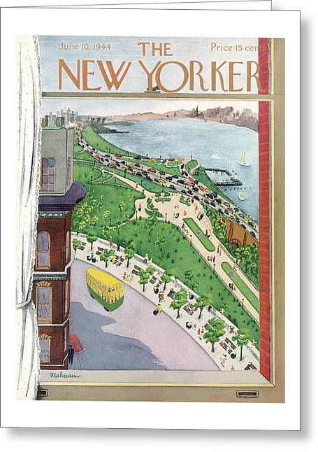 New Yorker June 10th, 1944 Greeting Card