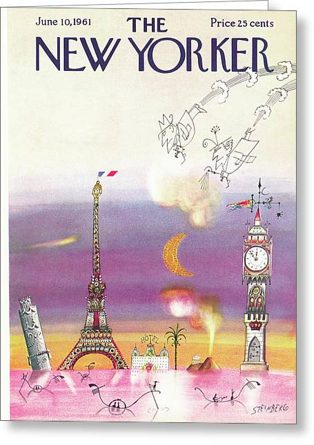 New Yorker June 10th, 1961 Greeting Card
