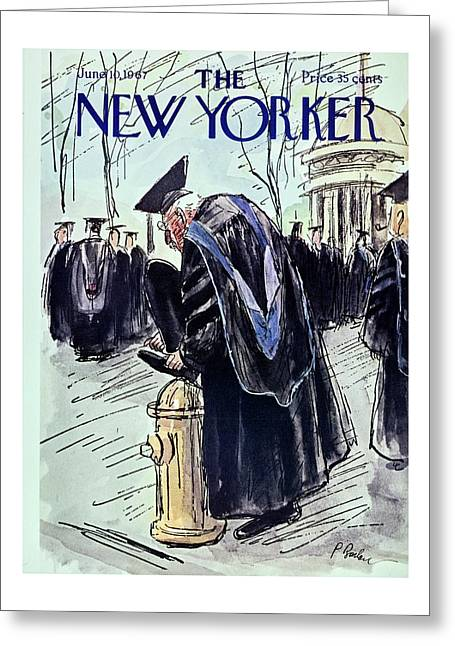 New Yorker June 10th 1967 Greeting Card