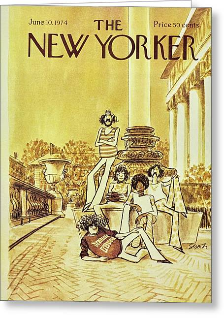New Yorker June 10th 1974 Greeting Card