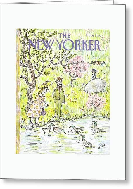 New Yorker June 10th, 1985 Greeting Card by William Steig
