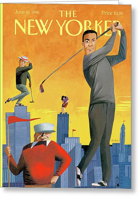 New Yorker June 10th, 1996 Greeting Card by Mark Ulriksen