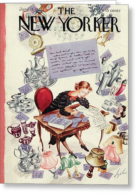 New Yorker June 11th, 1938 Greeting Card