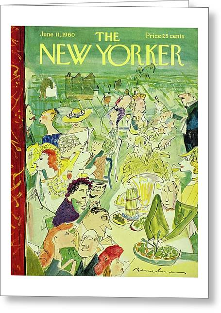 New Yorker June 11th 1960 Greeting Card