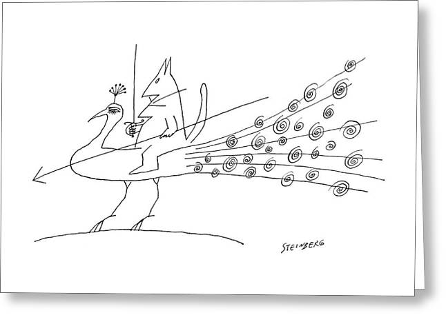 New Yorker June 11th, 1960 Greeting Card by Saul Steinberg
