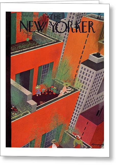 New Yorker June 12th, 1937 Greeting Card