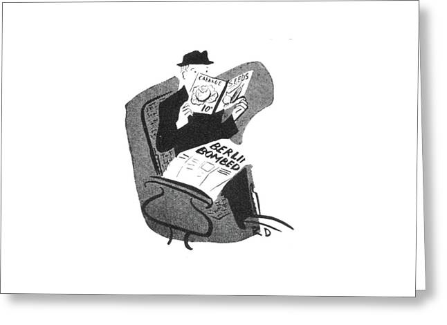 New Yorker June 12th, 1943 Greeting Card