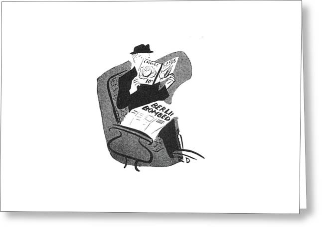 New Yorker June 12th, 1943 Greeting Card by Roger Duvoisin