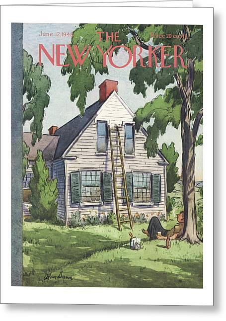 New Yorker June 12th, 1948 Greeting Card