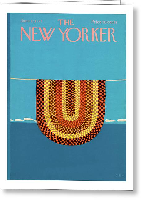 New Yorker June 12th, 1971 Greeting Card