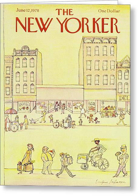 New Yorker June 12th 1978 Greeting Card