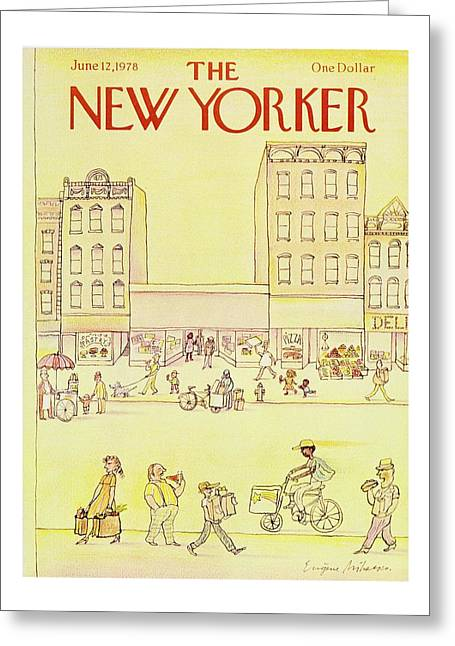 New Yorker June 12th 1978 Greeting Card by Eugene Mihaesco