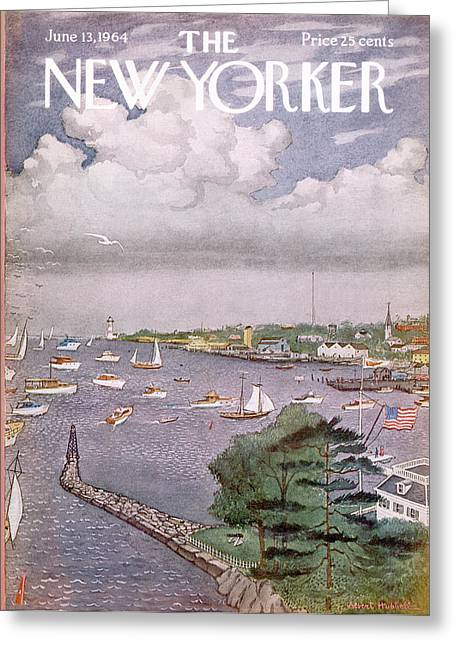 New Yorker June 13th, 1964 Greeting Card