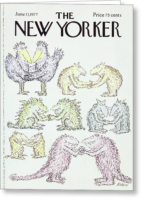 New Yorker June 13th 1977 Greeting Card