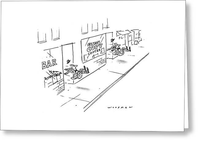 New Yorker June 13th, 1994 Greeting Card by Bill Woodman