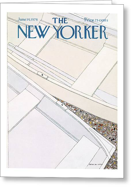 New Yorker June 14th, 1976 Greeting Card