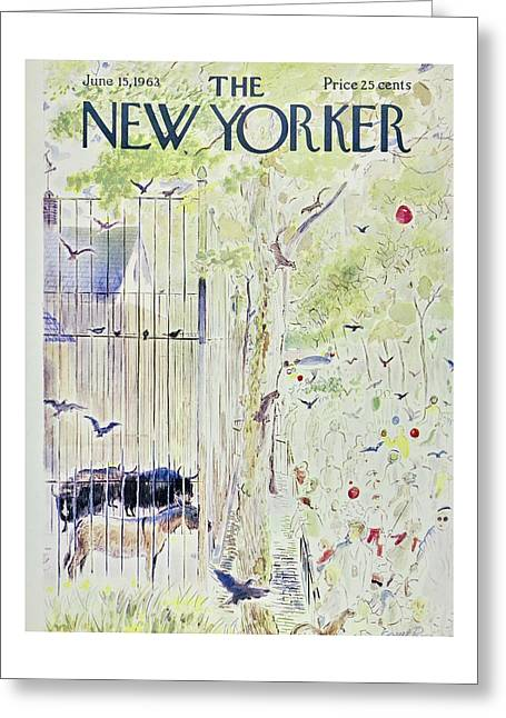 New Yorker June 15th 1963 Greeting Card
