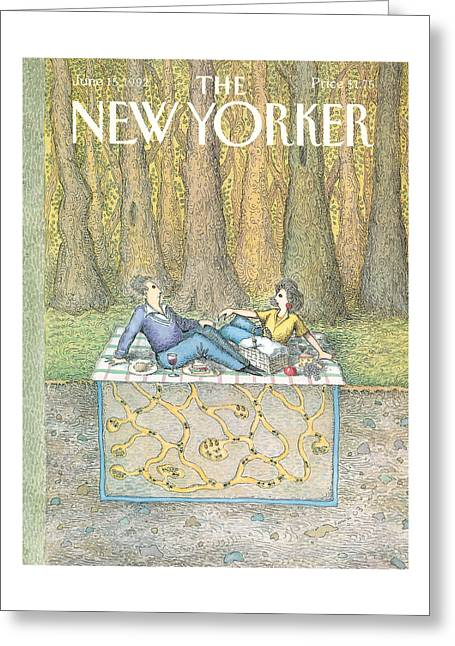 New Yorker June 15th, 1992 Greeting Card