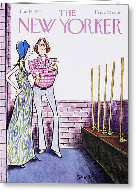 New Yorker June 16th 1975 Greeting Card