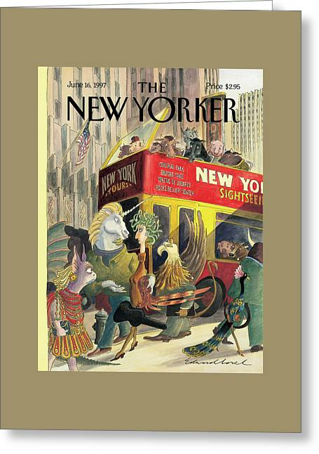 New Yorker June 16th, 1997 Greeting Card by Edward Sorel